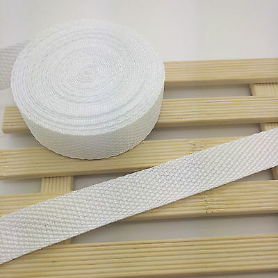 New 5 Yards Length 3/4 Inch (20mm) Width White Nylon Webbing Strapping