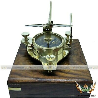 Nautical Gift Antique Pocket Sundial Compass Brass Sun Dial Vintage Maritime