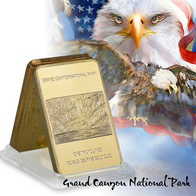WR 1 Oz Fine Gold Bullion Bar Iron Eagle Gold Collectable Coin Gift for Husband