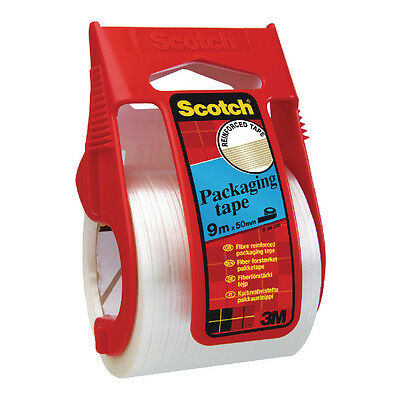 Scotch Clear Reinforced Packing Tape With Easy Start Dispenser / X.5009D