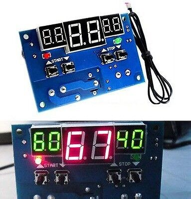 DC 12V Intelligent Digital Led Thermostat -9C to 99C Temperature Controller