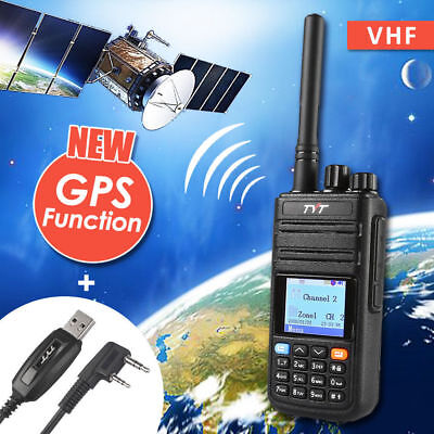 TYT MD-380G GPS Version DMR VHF 136-174Mhz Mobile Digital Two Way Radio + Cable