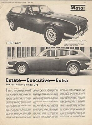 Reliant Scimitar GTE Launch Description 1968-69 UK Market Brochure Motor