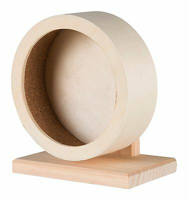 """Smooth & Quiet Wooden Exercise Wheel & Stand for Mice & Dwarf Hamsters 15cm (6"""")"""