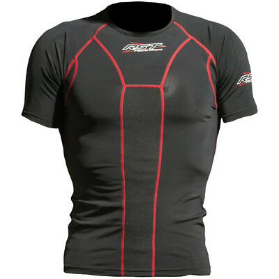 RST Tech X Multisport Motorcycle Base Layer Short Sleeved Top - Black