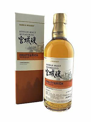 Nikka Miyagikyo Single Malt Japanese Whisky Fruity & Rich 500ml 55%. LIMITED!!!