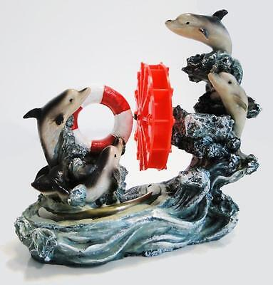 Aquarium Fish Tank Dolphin Ornament with Air Pump Bubble operation Perfect Gift!