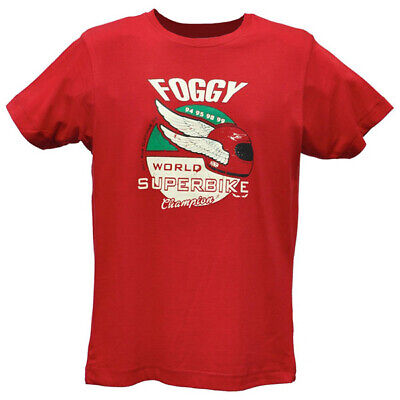 Oily Rag Clothing Casual Motorcycle Winged Foggy T-Shirt - Red