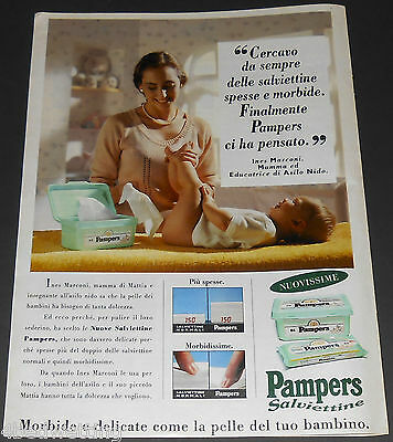1995 vintage ad page - PAMPERS BABY WIPES PANNOLINI - ITALY - 1-PAGE PRINT