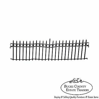Antique Hand Wrought Iron Gothic Fence from Mansion Wall