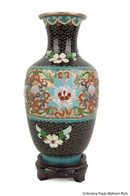 China 20. Jh. A Chinese Cloisonne Enamel Vase - Vaso Cinese jarrón Chino Chinois