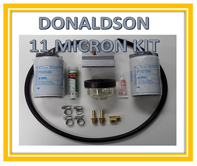 Diesel 2Nd Filter Kit. Complete 12Mm Kit. Water Trap. Inc Free Fuel Treatment.