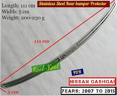 High Quality Stainless Steel Rear bumper Protector Sill Qashqai 2007 to 2015
