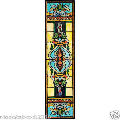 "35"" Blackstone Hall Tiffany-Style Stained Glass Window  - 300 authentic handcut"