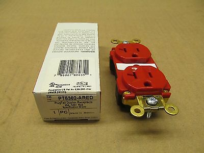 1 Nib Pass & Seymour Pt5362-Ared Pt5362Ared Plugtail Duplex Receptacle 20A 125V