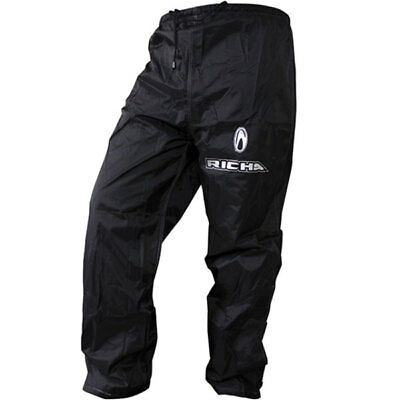 Richa Rain Warrior Motorcycle Waterproof Over Trousers - Black