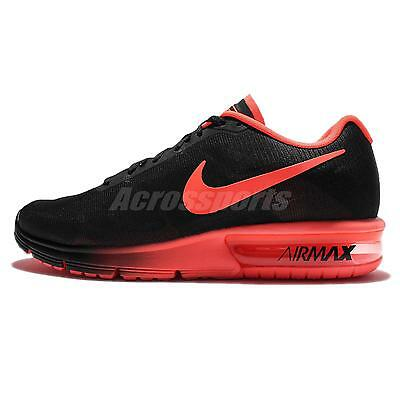 Nike Air Max Sequent Black Orange Mens Running Shoes Sneakers 719912-012