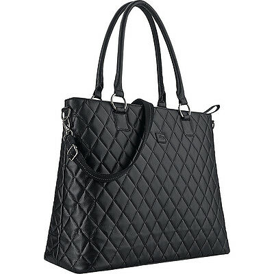 """SOLO Classic 15.6"""" Laptop Tote - Black Women's Business Bag NEW"""