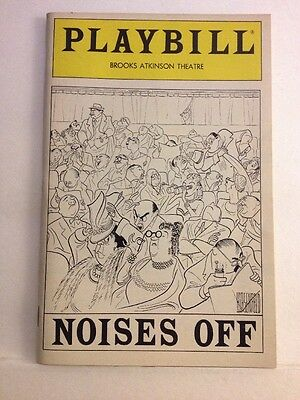 Playbill Noises Off at Brooks Atkinson Theatre August 1984! Emily Heebner!
