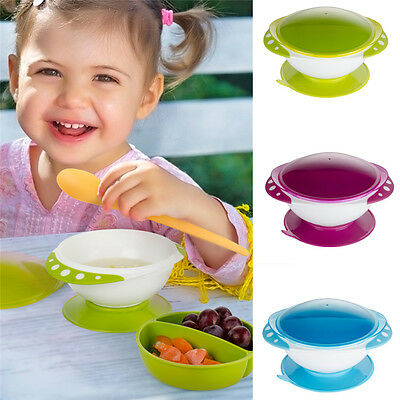Baby Slip-resistant Infants Feeding Bowl Suction Cup BPA Free