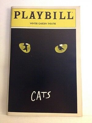 Playbill Cats at Winter Garden Theatre October 1982! Marlene Danielle!