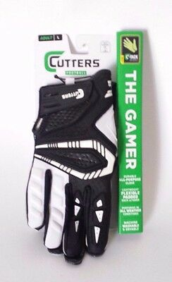 Cutters Gamer All Purpose Gloves Large Adult Black/White