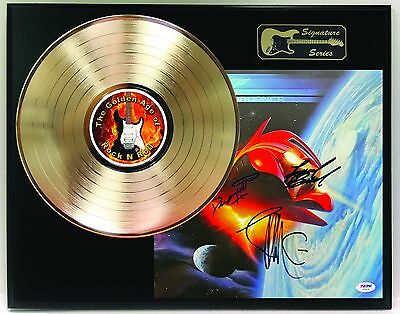 Zz Top After Burner Ltd Edition Reproduction Signature Gold Lp Record Display