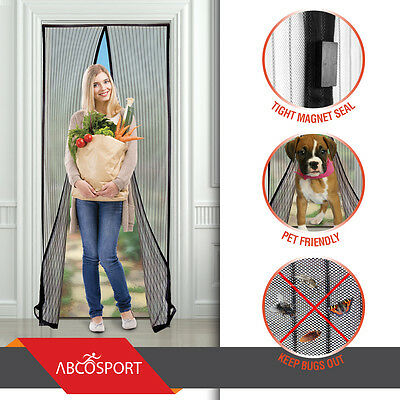 Magnetic Screen Door - Keeps The Fresh Air In and The Bugs Out - Mesh Comes With