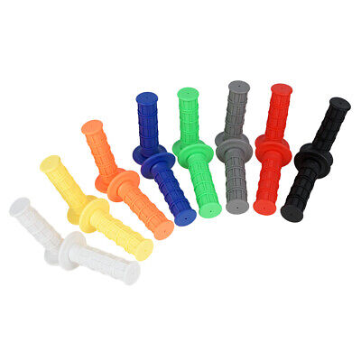 """Motorcycle Soft Rubber 22mm 7/8"""" Hand Grips Throttle Handle For MX Pit Dirt Bike"""