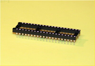 DIP-40 {x8} Machined pin IC socket  Hi-Reliability Easy insertion/removal