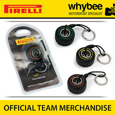Official Pirelli P-Zero Formula 1 Racing F1 Tyre Replica Mini Keyring Keychain