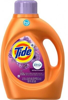 Tide Plus Febreze Freshness Spring And Renewal Scent HE Turbo Clean Liquid 48