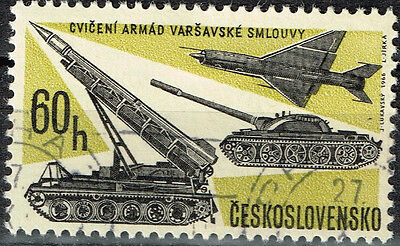 Czech Cold War Soviet Pact Army Rokets Tanks Airfoce stamp 1967