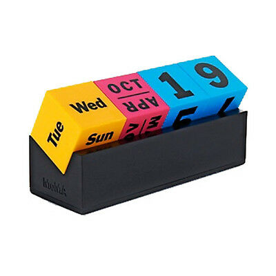 MoMA Cubes Perpetual Calendar CMYK Unique Cool Modern Office Desk Accessory Gift
