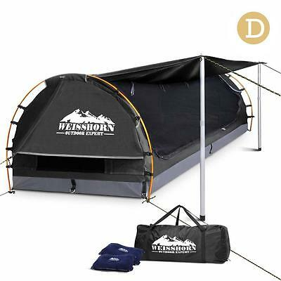 Weisshorn Double Camping Swags Ripstop Canvas Free Standing Dome Tent With Bag