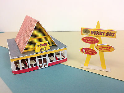 Z Scale Building - Retro Style Donut Shop DHZ1