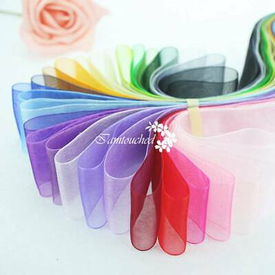 50Yards Satin Edge Sheer Organza Ribbon Bow Gift Craft Width10 15 25mm Wedding