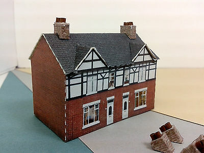 Z Scale Building 2 pcs - Terraced House Card Stock Kit BR2