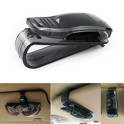 Car Auto Sun Visor Clip Holder For Reading Glasses Sunglasses Eyeglass Black