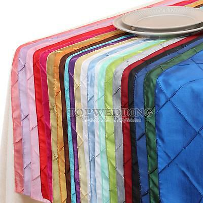 "1/5/10/20 PCS 12""x108"" Pintuck Table Runner for Wedding Party Home Decoration AU"