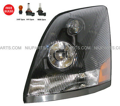Headlight Lamp - Driver Side  (Fit: Volvo VNL VN VNM )
