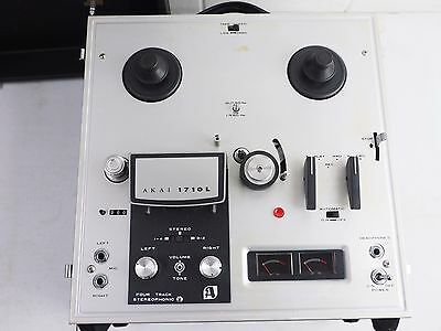 AKAI 1710 L reel to reel 4 track stereophonic monophonic tape recorder speaker