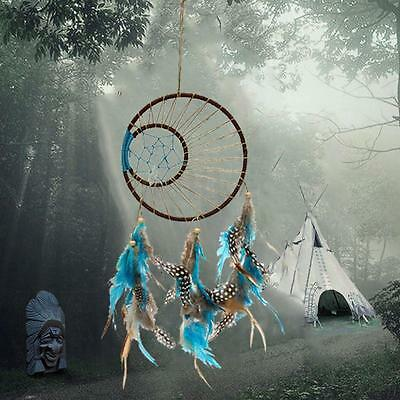Handmade Dream Catcher Feather Bead Wall Hanging Decoration Ornament Gift 45cm