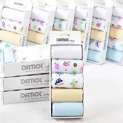 5Pcs 2016 Kids NewBorn Gauze Muslin Square Cotton Bath Wash Handkerchief Towels