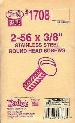 Kadee 12 x 1708 Stainless Steel Round Screws Model trains HO Freight -1-10 $2.50