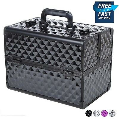 Extra Large Cosmetic Beauty Nail Technician Make Up Box Vanity Case Professional