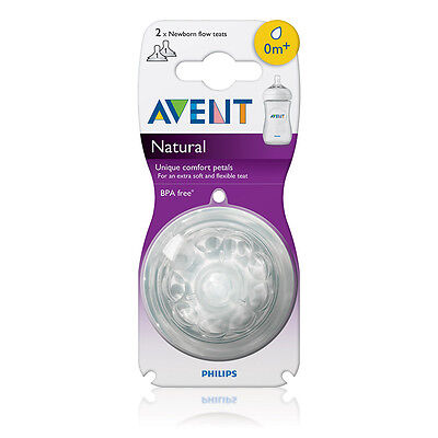 Philips SCF651/27 Avent Natural 2-Pack Newborn Flow Teats 0m+