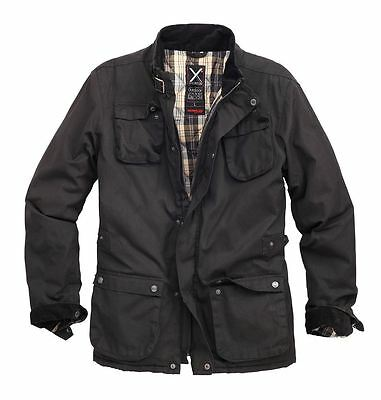 Surplus Xylontum Mens Outdoor Jacket Padded Warm Water-Resistant Waxed Cotton