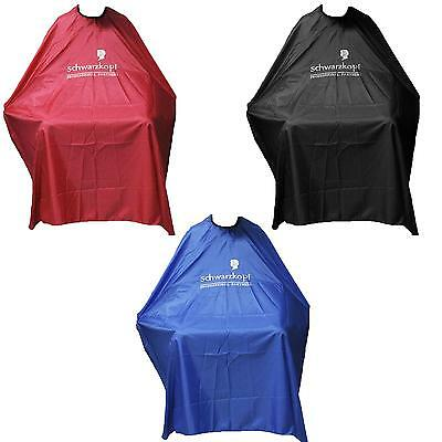 Pro Black Gown Adult Cloth Waterproof Salon Hair Cut Hairdressing Barbers Cape