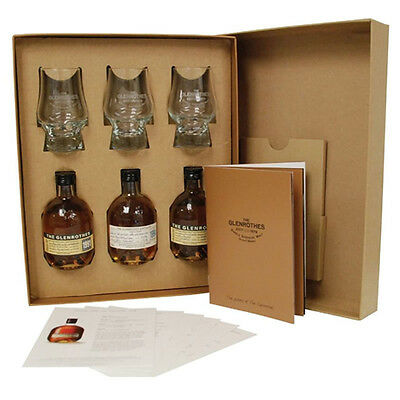 Glenrothes Secrets Whisky Taster Pack (3 x 100ml plus Glasses)